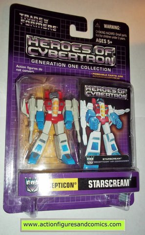 Transformers pvc STARSCREAM heroes of cybertron hoc hasbro toys action figures moc mip mib