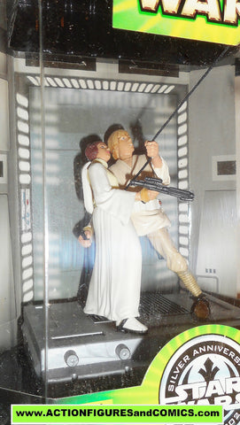 star wars action figures SWING to FREEDOM luke skywalker princess leia moc