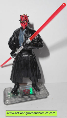 star wars action figures DARTH MAUL jedi duel 1999 episode I 1 complete hasbro toys