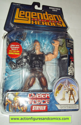 Legendary Comic Book Heroes STRYKER Cyber force Marvel Legends toy biz mib moc mip action figures