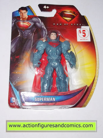 Superman man of steel movie KRYPTONIAN SUIT blue infinite heroes crisis moc