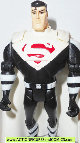 justice league unlimited SUPERMAN justice lord dc universe white black