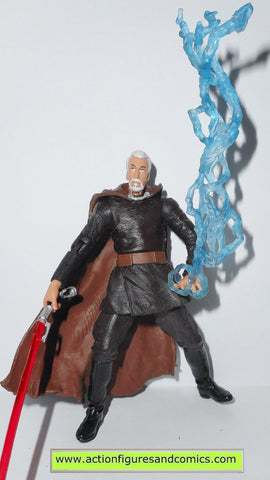 star wars action figures COUNT DOOKU DARTH TYRANUS geonosian escape 2003 complete attack of the clones saga aotc