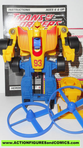 Transformers Generation 2 LEADFOOT 1992 g2 complete ROTOR FORCE