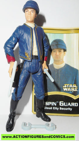 star wars action figures BESPIN SECURITY GUARD power of the jedi BOOK