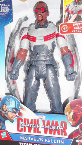 Marvel 12 inch electronic FALCON Captain America civil war movie universe moc mib