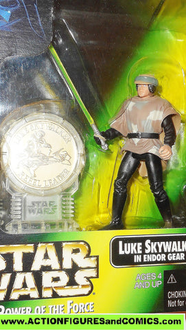 star wars action figures LUKE SKYWALKER endor millenium coin power of the force moc