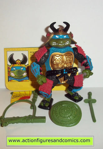 teenage mutant ninja turtles LEONARDO leo sewer samurai 1990 vintage complete tmnt
