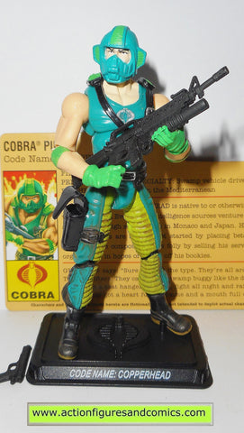 gi joe COPPERHEAD 2008 v4 25th anniversary cobra action figures