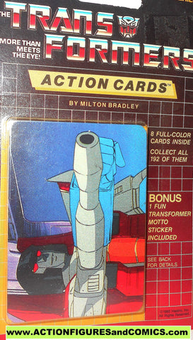 Transformers action cards STARSCREAM aiming cannon trading card 1985