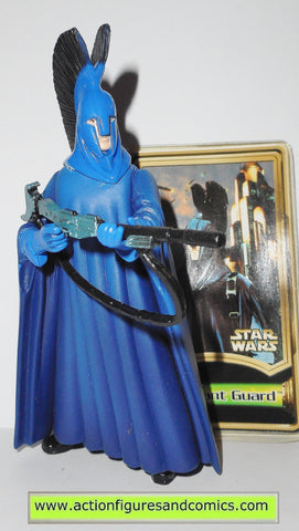 star wars action figures CORUSCANT GUARD booklet power of the jedi