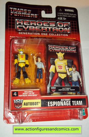 Transformers pvc BUMBLEBEE & SPIKE Espionage team heroes of cybertron hoc hasbro toys action figures moc mip mib