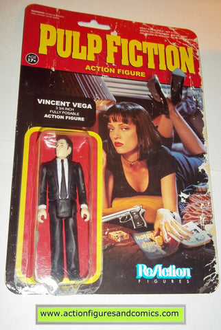 Reaction figures Pulp Fiction movie VINCENT VEGA funko toys action moc mip mib