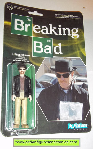 Reaction figures Breaking Bad HEISENBERG WALTER WHITE funko toys action moc mip mib