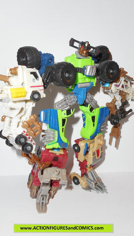 transformers powercore combiners MUDSLINGER destructicon action figures