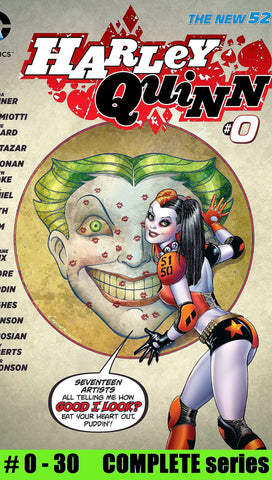 DC comics HARLEY QUINN # 0 - 30 New 52 FULL RUN complete series lot
