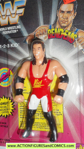 Wrestling WWF action figures 1 2 3 KID 1995 bend-ems justoys WWE moc