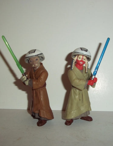 star wars action figures ASHLA & JEMPA JEDI PADAWANS 2002 saga aotc