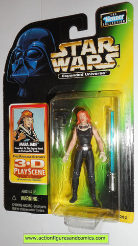 star wars action figures MARA JADE expanded universe 1998 power of the force hasbro toys moc mip mib