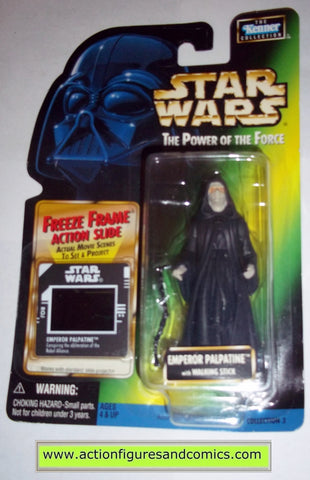 star wars action figures EMPEROR PALPATINE freeze frame 1998 power of the force hasbro toys moc mip mib