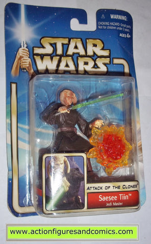 star wars action figures SAESEE TIIN jedi master 2002 Attack of the clones saga movie hasbro toys moc mip mib
