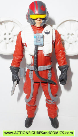 star wars action figures POE DAMERON space mission force awakens 2015