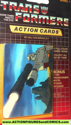 Transformers action cards MEGATRON aiming cannon trading card 1985