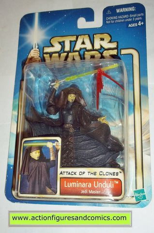 star wars action figures LUMINARA UNDULI 2002 Attack of the clones saga movie hasbro toys moc mip mib