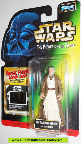 star wars action figures BEN OBI WAN KENOBI freeze frame power of the force 1998 moc