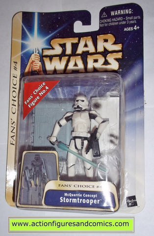 star wars action figures STORMTROOPER mcquarrie concept 2003 Attack of the clones saga movie hasbro toys moc mip mib