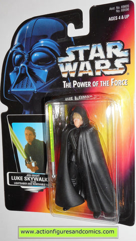 star wars action figures LUKE SKYWALKER JEDI KNIGHT .00 power of the force hasbro toys moc
