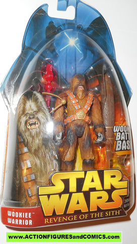 star wars action figures WOOKIEE WARRIOR 43 2005 revenge of the sith moc