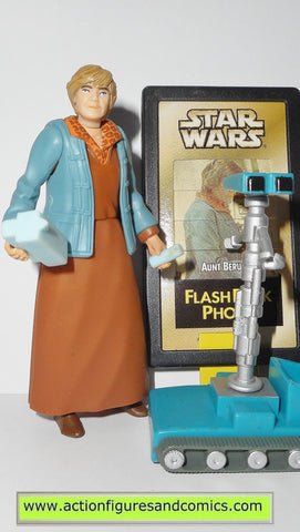 star wars action figures AUNT BERU 1998 flashback card power of the force