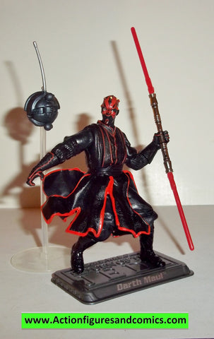 star wars action figures DARTH MAUL sith training 053 2006 Saga