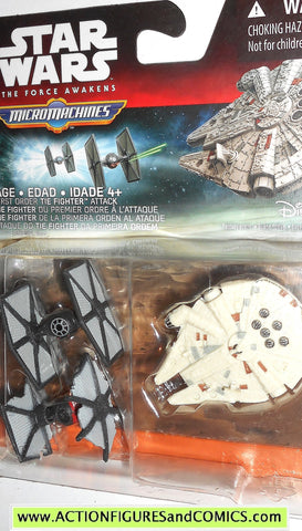 star wars micromachines MILLENNIUM FALCON TIE FIGHTERS force awakens
