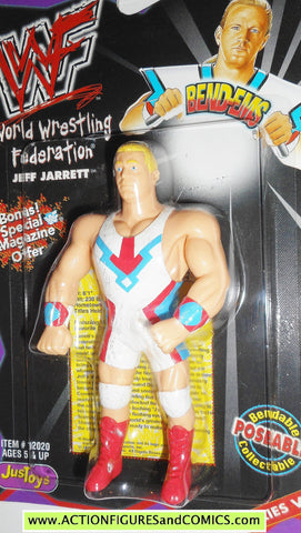 Wrestling WWF action figures JEFF JARRETT 1998 bend-ems justoys VIII WWE moc