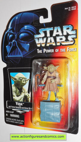 star wars action figures YODA red card power of the force hasbro toys moc