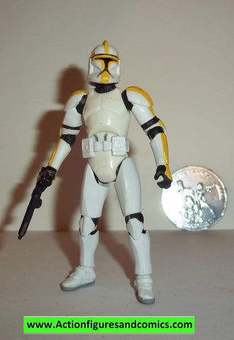 star wars action figures CLONE TROOPER OFFICER yellow 30th anniversary