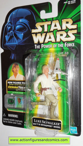 star wars action figures LUKE SKYWALKER t-16 model COMMTECH power of the force moc