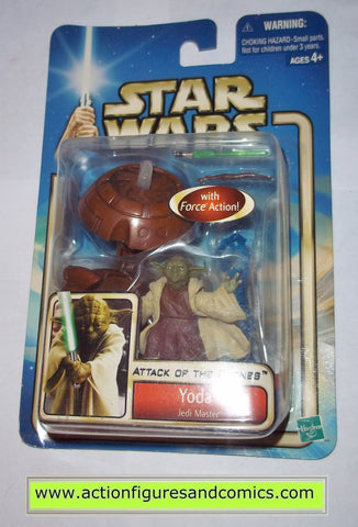 star wars action figures YODA jedi master force powers 2002 Attack of the clones moc