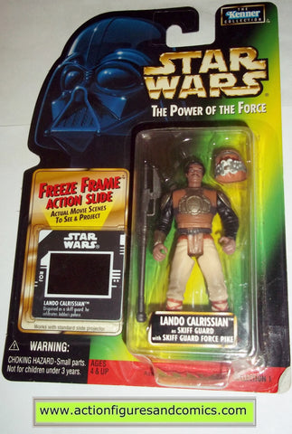 star wars action figures LANDO CALRISSIAN SKIFF GUARD freeze frame 1998 power of the force moc