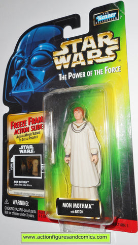 star wars action figures MON MOTHMA 1998 power of the force hasbro toys moc mip mib
