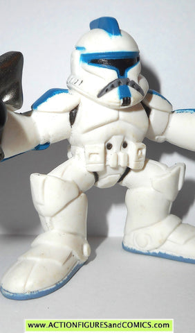STAR WARS galactic heroes BLUE CLONE TROOPER episode II style complete