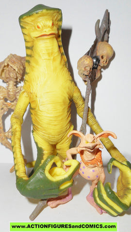 star wars action figures AMANAMAN & SALACIOUS CRUMB power of the jedi