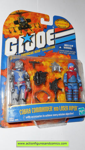 gi joe COBRA COMMANDER LASER VIPER 2001 ARAH action figures hasbro moc mip mib 00