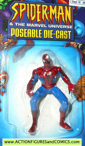 SPIDER-MAN Marvel die cast SPIDER-MAN poseable action figure 2002 toybiz MOC
