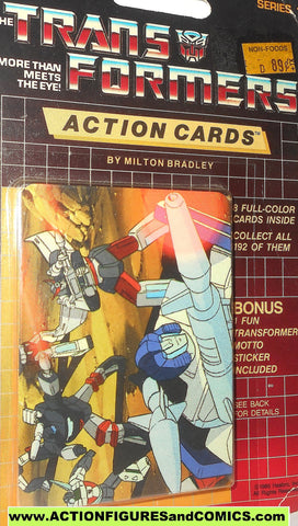 Transformers action cards AUTOBOT BATTLE mirage wheeljack trading card 1985