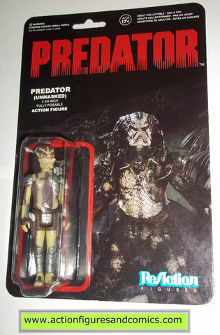Reaction figures PREDATOR unmasked movie funko toys action moc mip mib horror