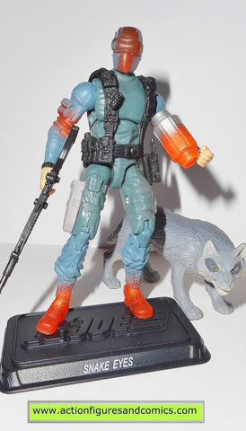 gi joe SNAKE EYES 2008 v36 25th anniversary timber wolf action figure