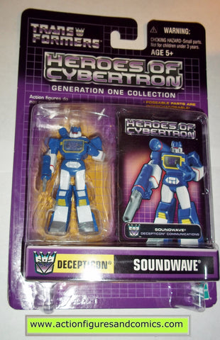 Transformers pvc SOUNDWAVE heroes of cybertron hoc hasbro toys action figures moc mip mib
